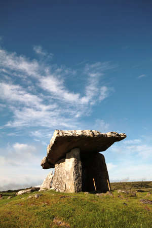 Monolith: The Dolmen, ancient monolith in the Burren, county Clare, Ireland Stock Photo