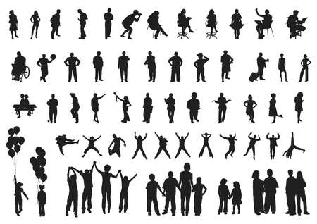 people silhouettes collection 3