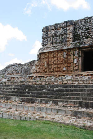 detail of decoration in maya architecture Stock Photo