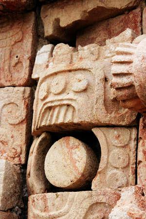 ruta: image of the maya rain god Chac Stock Photo