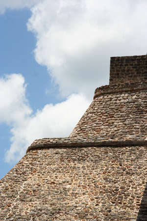 deatil: Uxmal pyramid detail