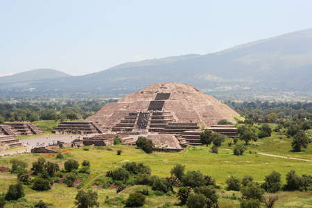 the Moon Pyramid in Teotihuacan, Mexico