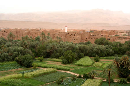 ancient atlantis: moroccan old village in an oasis