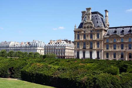 Louvre Museum and Tuileries garden in Paris