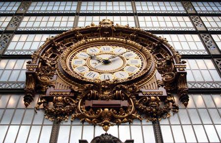 Clock of Museum Orsay in Paris photo
