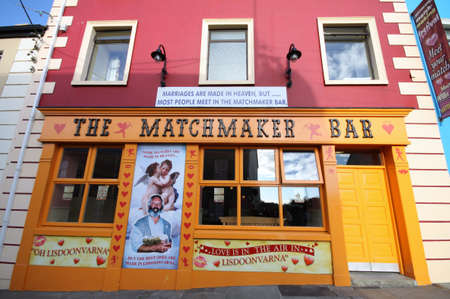 Lisdoonvarna Matchmaker Bar, traditional  love  festival place in Ireland