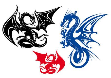 dragon rouge: trois types de dragons
