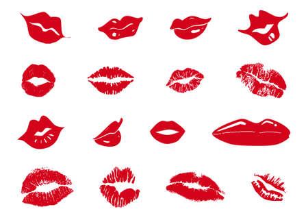 set di labbra rosse miste