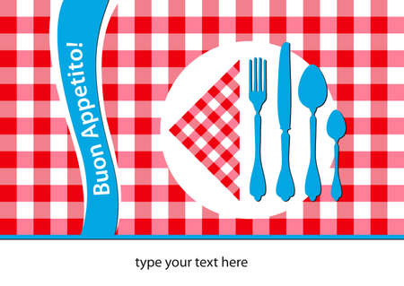 placemat: italian restaurant placemat, abstract background Illustration