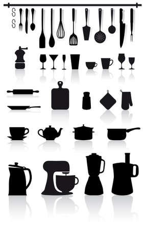 家庭の台所用品、小型家電製品、カトラリー