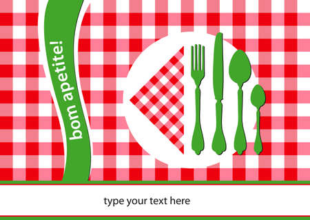 placemat: portugal flag colours design place-mat Illustration