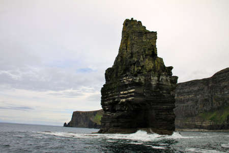 moher: Cliffs of Moher by the sea, Ireland Stock Photo