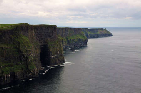 doolin: Panoramic Cliffs of Moher landscape, Ireland