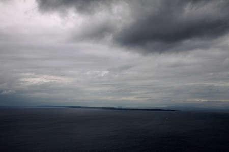 aran islands: Islas Aran vistas de los acantilados de Moher, Irlanda Foto de archivo
