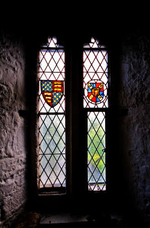 durty: Old Historical window inside Bunratty Castle in Ireland Editorial