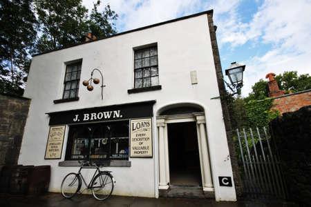 folk village: old style shop in Irish folk village
