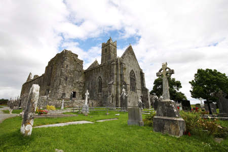 Quin Abbey ruins in Ireland