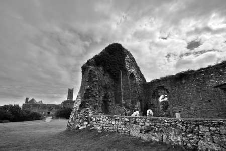 quin: Old Quin Abbey ruins in Ireland Stock Photo