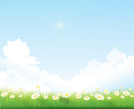 spring sky vector background