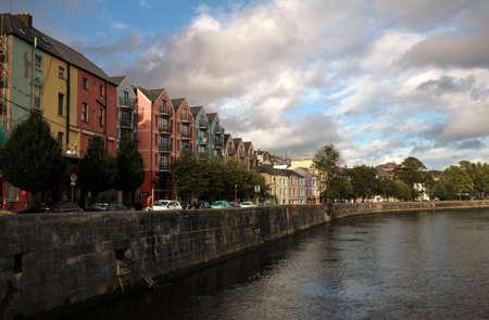 Landscape of Cork on river Lee, Ireland