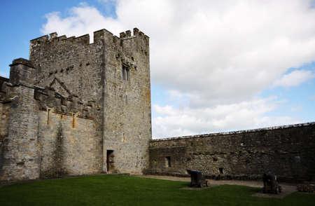 Internal courtyard of Cahir Castle in Ireland Stock Photo