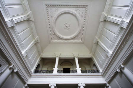 the royal county: Stucco Roof Stately at Russborough House near Dublin, Ireland