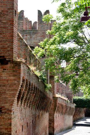 dante alighieri: Internal wall in Gradara Castle