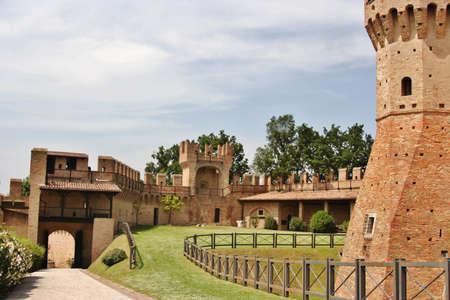 dante alighieri: Courtyard of Gradara Castle, central Italy