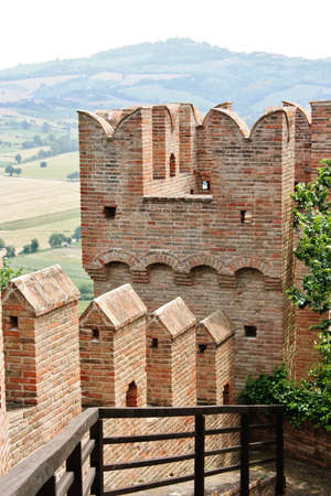 small articles: Wall and tower of castle Gradara in Marche, italy
