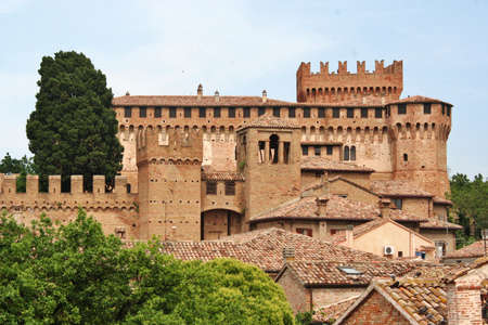 Gradara castle in central italy Editorial