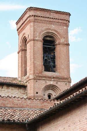 bell tower in Corinaldo, Marche, Italy Stock Photo
