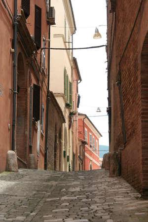 small road in italian village