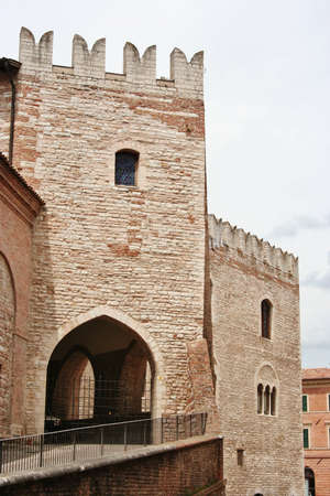 Lorship palace in a village in central italy