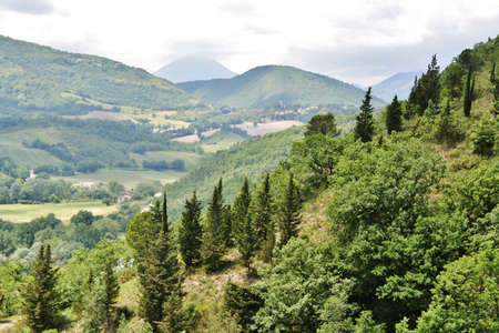 Hills landscape in central Italy