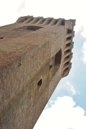 Tower in Old Town of Ascoli Piceno, Marche, Italy
