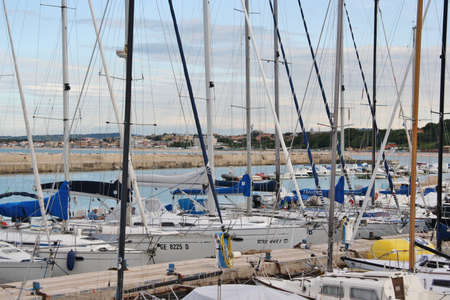 Harbor in Sirolo, Marche, Italy Editorial