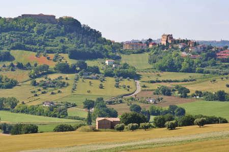 Marche Hills landscape, central Italy Imagens
