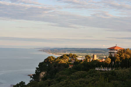 Town of Sirolo on Mount Conero Bay, Marche, Italy