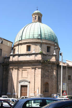 Dome of a church in Ancona Imagens
