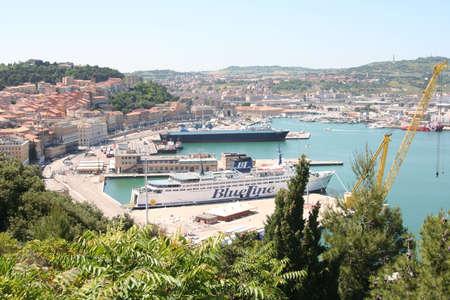 Ancona harbor and bay
