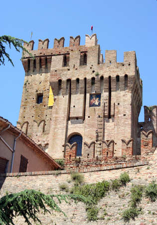 Medieval castle with battlements near Ancona, Italy