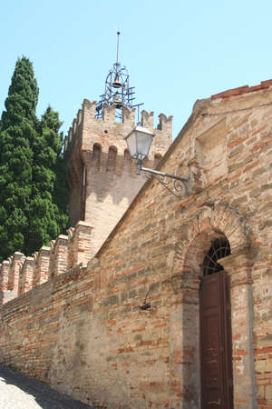 External wall and entrance to the castle near Ancona, Italy