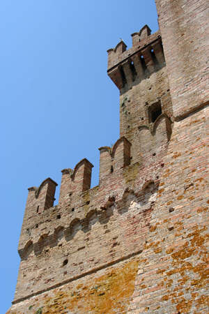 lateral view of a castle near Ancona, Marche, Italy