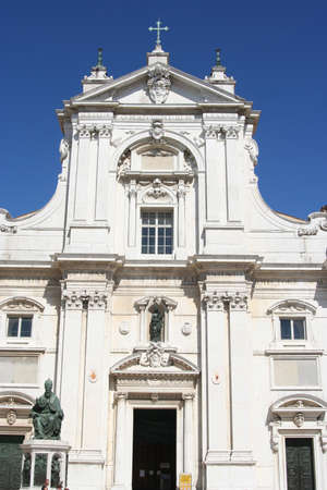 Main entrance of Loreto cathedral in its sanctuary, Marche, italy