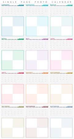 basic 2020 calendar with big photo frame, single pages, english Imagens - 134685687