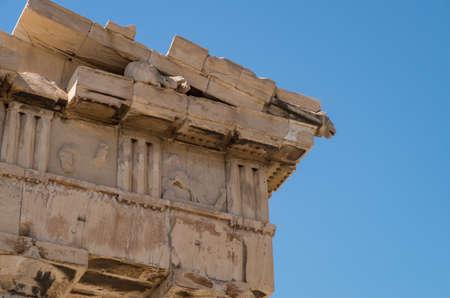 The Erechtheum, The Acropolis, Athens, Greece, close view of portico Archivio Fotografico