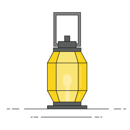lantern light hanging isolated icon vector illustration design. Çizim