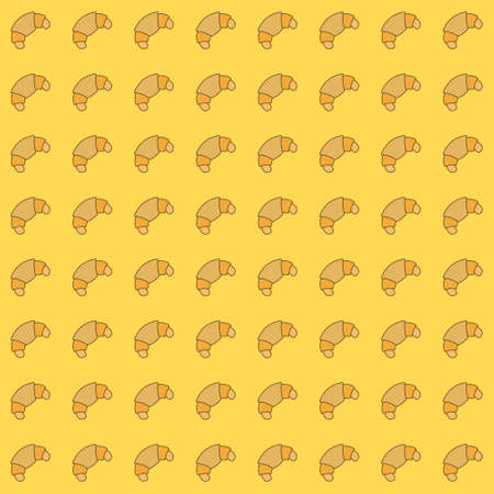 Seamless vector pattern with simple croissant icon. Food pattern illustration for poster, banner, fabric.