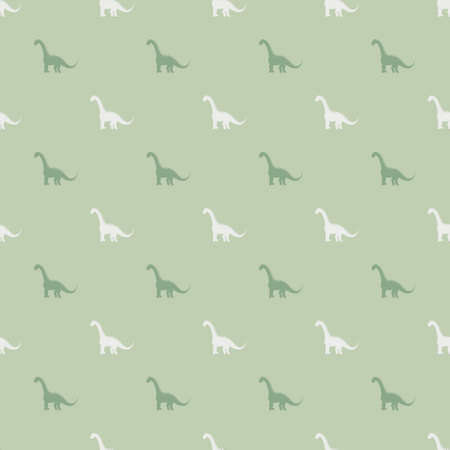 Seamless pattern with dinosaurs silhuettes. Creative vector childish background for fabric, textile, wrapping