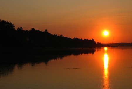 sunset on the lake photo